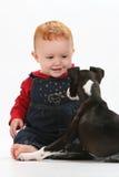 Bebê e filhote de cachorro Imagens de Stock Royalty Free