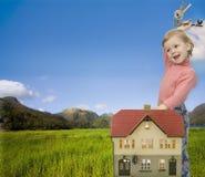 Bebê e HOME Fotografia de Stock Royalty Free