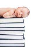 Bebê e livros foto de stock royalty free