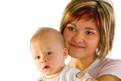 Bebê e mamã Imagem de Stock Royalty Free
