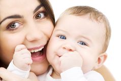 Bebê e mama imagem de stock