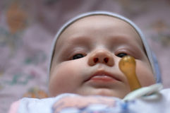 Bebê e manequim Foto de Stock