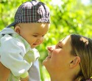 Bebê e matriz fotos de stock royalty free
