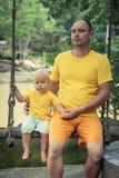 Bebê e pai Imagens de Stock Royalty Free