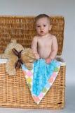 Bebê e peluche Imagem de Stock