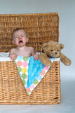 Bebê e peluche Fotografia de Stock Royalty Free