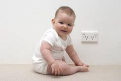 Bebê e ponto de potência Foto de Stock