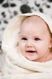 Bebê e a toalha Fotografia de Stock Royalty Free