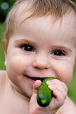 Bebê e veggy Fotografia de Stock Royalty Free