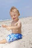 Bebê em férias Imagens de Stock Royalty Free