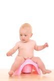 Bebê em potty imagem de stock