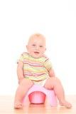 Bebê em potty Foto de Stock Royalty Free