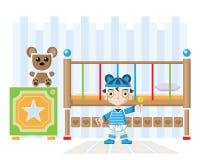 Bebê em sua própria sala ilustração stock