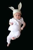 Bebê em um chapéu com orelhas de coelho Imagens de Stock Royalty Free