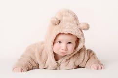Bebê em um fundo branco Foto de Stock Royalty Free