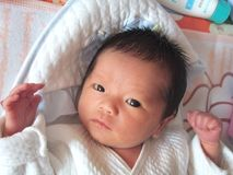 Bebê encantador Fotografia de Stock Royalty Free