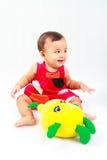 Bebê engraçado Fotografia de Stock