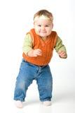 Bebê engraçado ereto Fotos de Stock