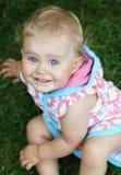 Bebê eyed azul Imagens de Stock