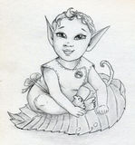 Bebê feericamente do duende Fotografia de Stock Royalty Free