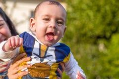 Bebê feliz agradável Imagem de Stock Royalty Free