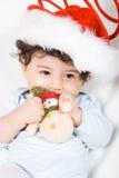 Bebê feliz com brinquedo Fotos de Stock Royalty Free