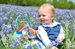 Bebê feliz de Easter Imagem de Stock Royalty Free