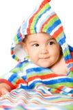 Bebê feliz nas cores Foto de Stock Royalty Free