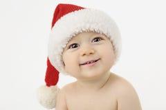 Bebê feliz Papai Noel fotografia de stock royalty free