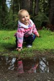 Bebê fora Fotos de Stock