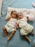Bebê gêmeo Imagem de Stock