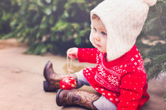 Bebê girl Fotografia de Stock Royalty Free