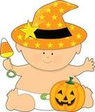 Bebê Halloween Fotografia de Stock