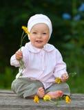 Bebê idoso de um ano adorável Fotos de Stock Royalty Free