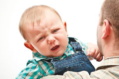 Bebê irritado Foto de Stock Royalty Free