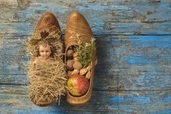 Bebê Jesus do fundo do Natal Imagens de Stock