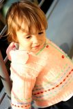 Bebê-menina bonito Imagens de Stock