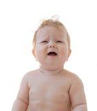 Bebê-menina de grito imagem de stock