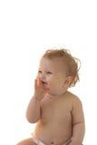 Bebê-menina de sorriso Fotos de Stock
