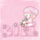 A bebê-menina desenhada pequena Imagens de Stock Royalty Free