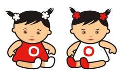 Bebê-meninas Fotos de Stock Royalty Free