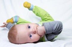 Bebê 6 meses velho Fotografia de Stock Royalty Free