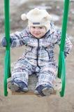 Bebê na balancê fora Foto de Stock Royalty Free