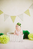 Bebê na caixa Foto de Stock Royalty Free