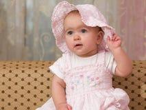Bebê na cor-de-rosa Fotos de Stock Royalty Free