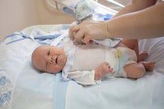Bebê na idade de 4 dias fotografia de stock
