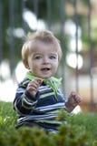 Bebê na mola Fotos de Stock