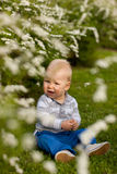 Bebê na natureza Imagens de Stock Royalty Free