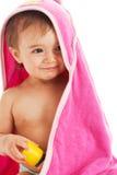Bebê na toalha Imagens de Stock Royalty Free