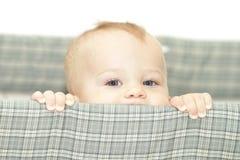 Bebê na ucha Fotografia de Stock
